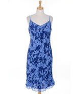 $58 NWT American Eagle Dress Floral Blue Layered Summer Beach Cruise Plu... - $25.28