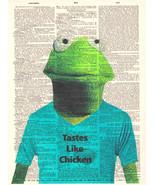 Art N Wordz Muppets Kermit Tastes Like Chicken Dictionary Page Pop Art P... - $21.00