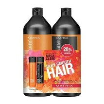 Matrix Total Results MEGA SLEEK Shampoo & Conditioner duo 33.8oz/1L (New) - $39.95