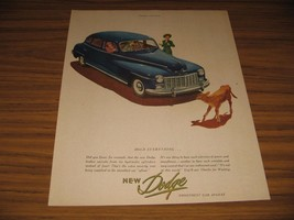 1947 Print Ad The New Dodge Smoothest Car Afloat Calf in Road - $13.58