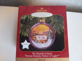 Vintage Hallmark Keepsake The Warmth of Home  Lighted Ornament Thomas Ki... - $12.99