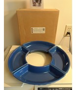 Longaberger Serving Crescent Dishes Cornflower Blue Set of 4 New In Box USA - $44.50