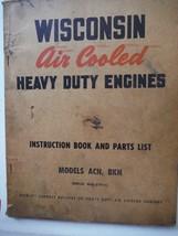 Wisconsin Engines vintage 1960s instruction manual parts list models ACN BKN 70p - $11.48
