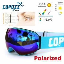 Polarized COPOZZ ski goggles double lens UV400 anti-fog big lagre glasses - $66.62