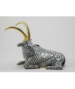 Herend Porcelain Antelope Figurine, SVHNM---15457, Black Fishnet - $475.00