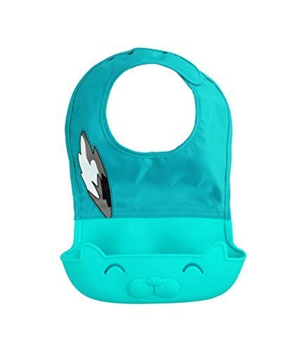 Cartoon Waterproof Comfortable Baby Bib/Pinafore for Baby, Blue