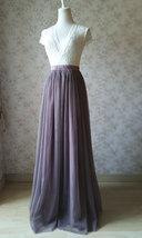 Maxi Full Tulle Skirt High Waisted Floor Length Tulle Skirt Wedding Tulle Skirt  image 2