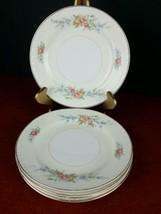 """5 dessert/bread plate Homer Laughlin Eggshell Georgian 6.25"""" dinnerware 1942  - $32.30"""