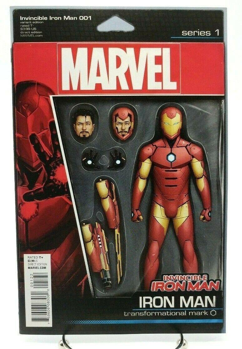 Invincible Iron Man #1 Action Figure Variant Cover Marvel Coimcs Volume 2 2015
