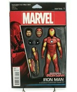 Invincible Iron Man #1 Action Figure Variant Cover Marvel Coimcs Volume ... - $5.94