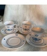 Noritake Blue Haven Progression China 9004 Set 3 Coffee Tea Cup Mug & 4 ... - $23.01