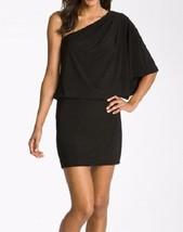 Jessica Simpson Dress Sz XS Black One Shoulder Blouson Cocktail Dinner Dress  - $59.35