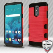 Red/Black Brushed TUFF Trooper Hybrid Cover for LG Stylo 4 Plus/Stylo 4 - $12.23