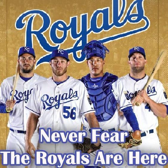 Kansas City ROYALS  Never Fear The Royals Are Here    3 x 3  Fridge Magnet for sale  USA