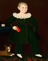 Ammi Phillips little boy with terrier dog and primer child 8 x 10 art print - $6.49