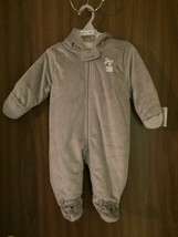 Child of Mine~Carters Grey 3-6 mos. Full Body Winter Suit with Hood *NEW w/ TAGS - $15.99