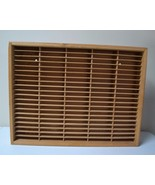 LARGE NAPA VALLEY BOX CASE WOODEN WALL STORAGE RACK HOLDS 100 CASSETTE T... - $59.39