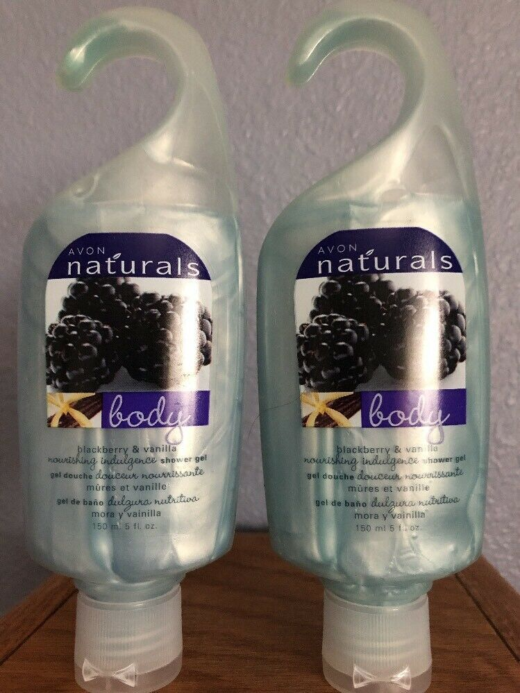 Primary image for AVON Naturals Blackberry And Vanilla Shower Gel   5 Fl. Oz. Lot Of 2 New Sealed