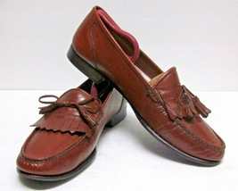 Bostonian Florentine Men's (9M) Brown Leather Kiltie Tassel Loafers Mocs Italy - $41.28