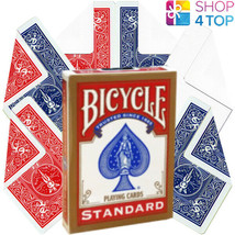 BICYCLE STANDARD RED DECK + 6 MAGIC TRICKS PLAYING CARDS BLANK DOUBLE BA... - $12.13