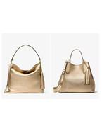 Michael kors Brooklyn Leather shoulder bag hobo Grab bag handbag satchel tote - $151.47