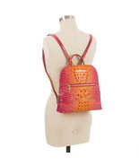 NWT Brahmin Felicity Embossed Leather Backpack in Passion Fruit Melbourne - $269.00