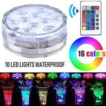 Lyyes Submersible LED Lights Battery Operated Led Light Waterproof Colorful Pool