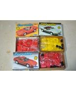 Lot Chevrolet Corvette Roadster + 1988 Red Convertible MPC 1:25 Kit # 62... - $37.01