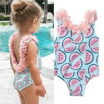 Cute Kids Baby Girl Watermelon Bikini Swimwear Summer Girl Sleeveless 3D - $9.89