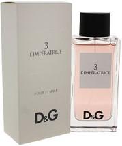Dolce and Gabbana 3 Limperatrice Women's 3.3-ounce Eau De Toilette Spray... - $75.05