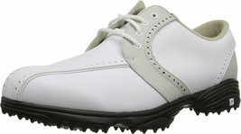 NEW! FootJoy [6.5] Medium GreenJoys Women Golf Shoes 48357-White/Cloud - $108.78
