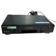 Sony VCR With Remote & AV Cables 4 Head Hi-Fi Stereo VCR VHS Player Recorder - $102.85