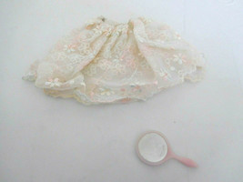 Vintage 1959-1963 Barbie Tagged Clothes Floral Petticoat & Mirror - $9.99