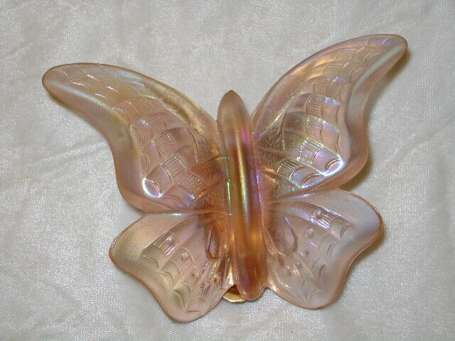 Primary image for  Fenton Lavender Glass Butterfly with Brass Legs Stand