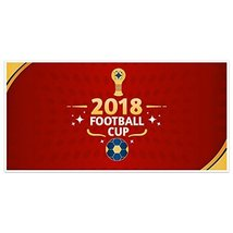 Red and Gold 2018 Russia World Football Cup Banner Party Decoration - £16.88 GBP
