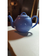 Vintage Hall Pottery Teapot Cornflower Blue Lipton's Tea Teapot Made in USA - $44.99