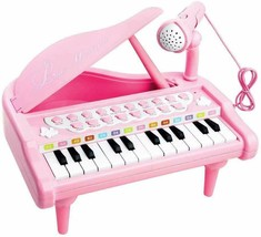 Piano Toy Keyboard for Kids Birthday Gift Pink Music Instruments with Mi... - $34.64