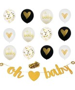 XERITA Baby Shower Decorations Neutral - Large Banner, Large 12 inch Lat... - $10.84