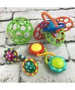 Developmental Baby Toys Lot Of 4 Easy-Grip Balls Rattles Phone Sensory B... - $14.84