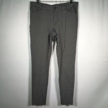 Gap Slim City Pants Women's 8 R Mix Dot Print Black White - $16.82