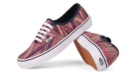 Vans Authentic Woven Chevron Pink True White Mens 3.5 Women's 5 Shoes Skate New - $42.03