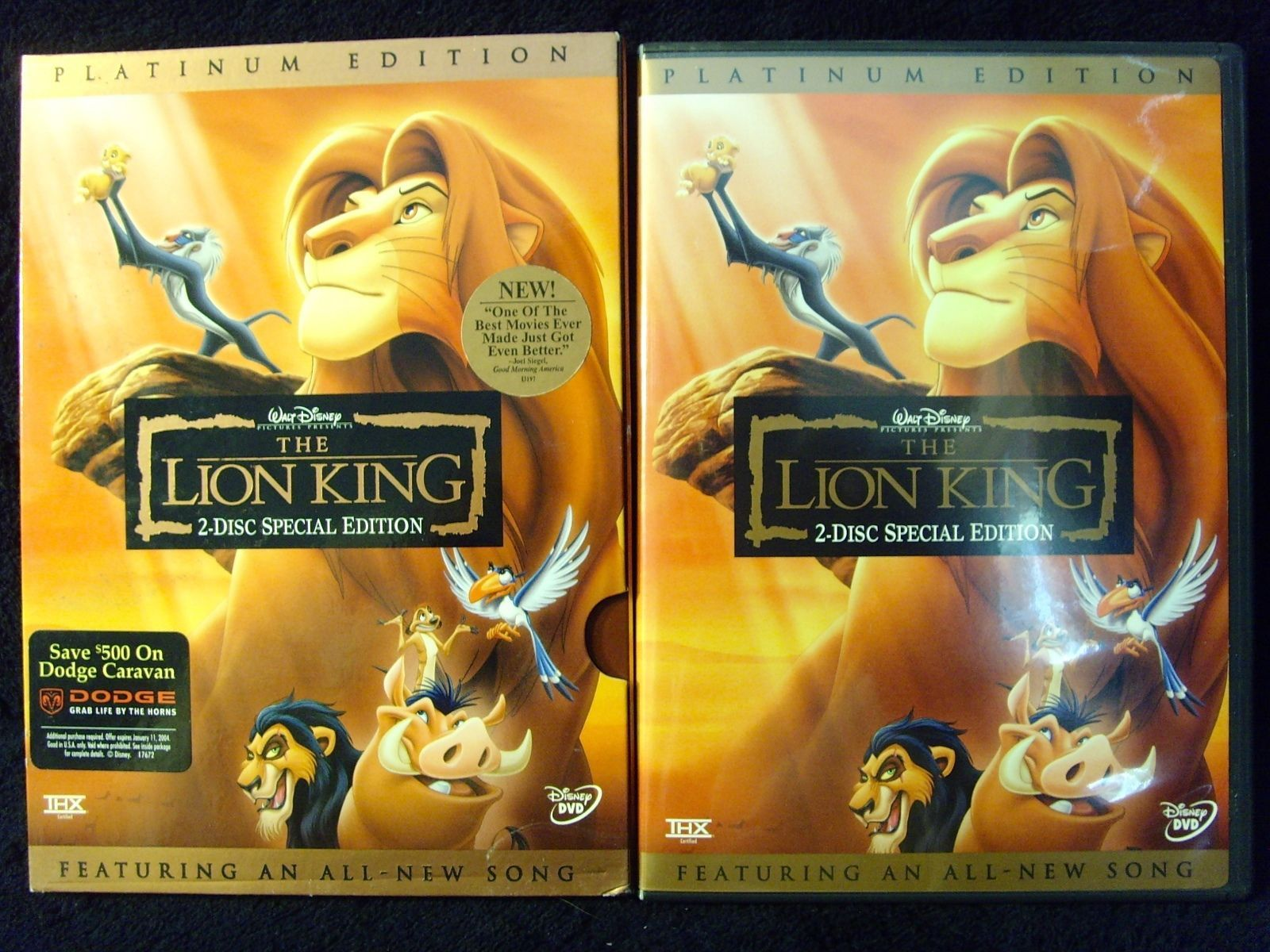 The Lion King Dvd 2003 2 Disc Set And 50 Similar Items