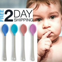 Hot Safety Spoons 4Pcs Baby 3m+ Gentle Soft-Tip White Hot System Dishwas... - $4.94