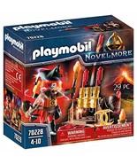 Playmobil 70228 Knights of Novelmore Burnham Raiders Fire Master with Ro... - $14.15