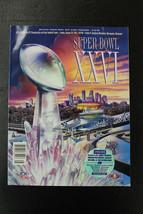 Super Bowl XXVI Program Metrodome Stadium Redskins vs Bills Mark Rypien ... - $18.81