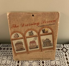 Brand New Strawberry Lane Counted Cross Kit The Dressing Screen Wooden F... - $11.49