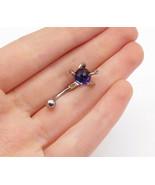 925 Sterling Silver - Quartz Sphere Bird Claw Key Petite Ring Accessory ... - $20.67