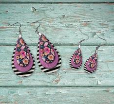 Floral and pink earrings - $4.99+