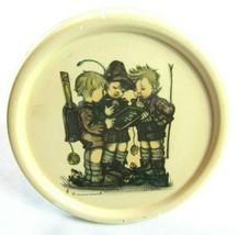 "Vintage Hummel 3 School Boys 6.5"" Round Glazed Chalkware Wall Plaque Han... - $9.99"
