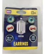 NEW BBC DOCTOR DR WHO Tardis Bow Ties Are Cool Metal Post Earrings 3 Pai... - $14.41